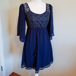 BRAND NEW- NEVER WORN! Adorable Boho Dress